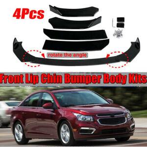 Glossy Black Front Bumper Lip Spoiler Splitter For Chevrolet Cruze 2010-2021