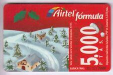 Europe telecarte/phonecard... spain 5.000p airtel noel winter + no. 12/00