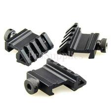 3 PCS Tactical 45 Degree Angle Offset 20mm Weaver Rail Mount Picatinny 4 Slot