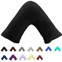 300TC Cotton Soild V Shaped / Tri / Boomerang Standard Pillow Case Cushion Cover
