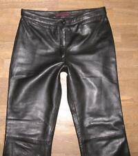 Lederhose Pantaloni in Pelle Nero knalleng con cintura dimensione 32-58 XS-XXXL