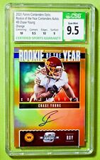 2020 Contenders Optic #8 CHASE YOUNG ROY Contenders Orange /50 CSG 9.5 Auto 10