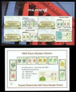 Philippines SK – 2021 Tokyo Olympics '64 Personalized MS/4, MNH, OG, F-VF