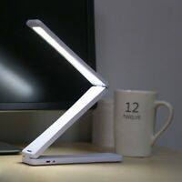 Portable Folding 17 LED Reading Light Rechargeable Table Desk Lamp Touch Control