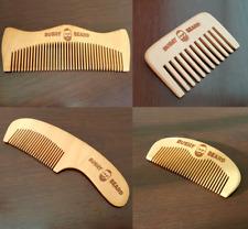 Bushy Beard Combs Moustache Wooden Comb Mens Gents Fashion Hair Christmas Gift