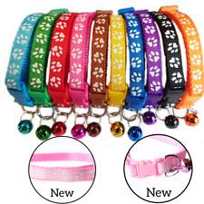 Cat Puppy Kitten Dog Adjustable Cute Paw Pet accessories Collar Bell 19-32cm
