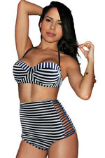 Costume Da Bagno Aperto Bikini Lacci Vita alta Fascia Sling Swimwear Swimsuit XL