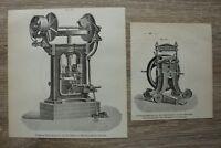 Werbung 2 Blätter 1901 Fabrik Badische Maschinen Technik Durlach Friktionspresse
