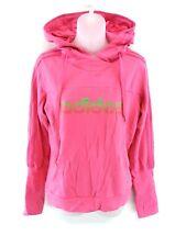 ADIDAS Womens Hoodie Jumper 10 Pink Cotton