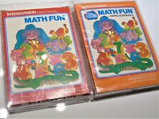 Math Fun Lot Both Versions Complete Intellivision Video Game System