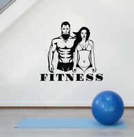 Vinyl Wall Decal Fitness Couple Sports Home Gym Decoration Stickers (ig5595)
