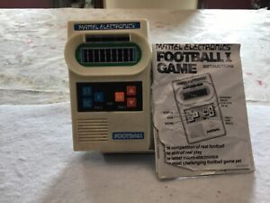 Vintage 1977 Mattel Classic Football Electronic Handheld Game Tested & Working!