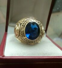 Superb 10ct Gold College School Ring Yeshiva University High School 1966  size S