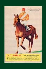 OLD ROWLEY 1940 Melbourne Cup 2nd view tinted modern Digital Photo Postcard