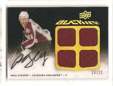 Paul Stastny 2009-10 Upper Deck Black Ice Jersey Autograph 20/25 Auto