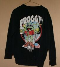 VINTAGE FROGGY's ALL COTTON SWEAT SHIRT-L !!