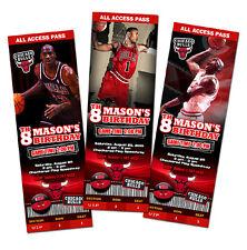 CHICAGO BULLS BIRTHDAY PARTY INVITATION PHOTO 1ST CUSTOM ANY TEAM BASKETBALL -C1