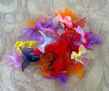 "100 pcs muti-color organza ribbon bow size 12mm (1/2"")"