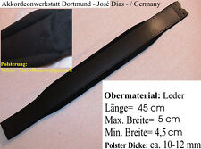 45 x 5 cm Akkordeon Bass-Handriemen, Leder Bassriemen, accordion basss belt,