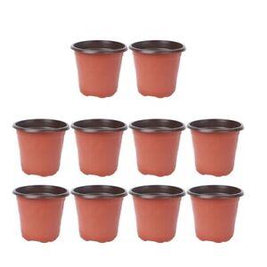 10pcs Pot De Fleur plastique Plantes De Pépinière Conteneur De Semences Jardin