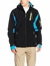 Peak Mountain Mens Cavybi Softshell Jacket Black Blue XL rrp £170  TD078 RR 02