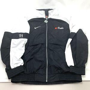 Vintage Nike 90's Windbreaker Mens Med Full Zip Up White & Black Jacket