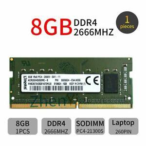 8GB 4GB DDR4 2666MHz 1Rx8 PC4-21300 ACR26D4S9S8ME-8 1.2V Laptop RAM For Kingston