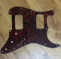 NEW Tortoise 3 Ply HH Stratocaster PICKGUARD for Fender Strat Humbucker Pickups