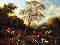 PAINTING ALLEGORY BIBLICAL TIELING ARK HISTORIC LARGE REPRO POSTER PRINT PAM2053