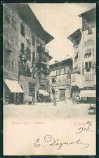 Trento Città Palazzo Rohr RIFILATA MACCHIA COLLA cartolina QT4147