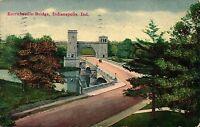 Indianapolis, IN Emrichville Bridge Postcard Posted 1913