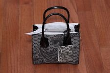 NWT Michael Kors $278 Studio Mercer Paisley Medium Messenger Bag Tote Black