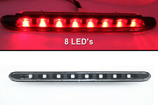 (1) Red LED/Black Lens 3rd Third Brake Light Stop Lam For 01-08 Peugeot 206cc