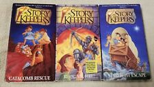 Lot 3 THE STORY KEEPERS Christian Bible Stories VHS Videos Animated Cartoons EUC