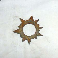 """New listing Lot of 4 Sun Shapes 3"""" Rusty Metal Vintage Ornament Craft Sign Wind Chime"""