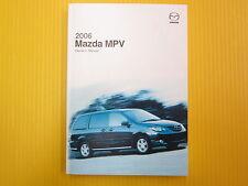 MPV M P V Minivan 06 2006 Mazda Owners Owner's Manual All Models & Engines OEM