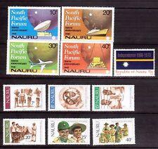 Nauru two sets from 1980s Muh