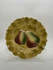 "Vintage SARREGUEMINES  French Majolica Round  7.5"" Fruit Plate   OLD MARK"