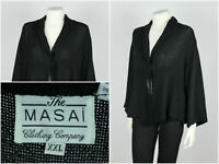Womens The Masai Clothing Company Cardigan Knit Tunic Viscose Black Size XXL
