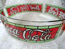 Coca Cola Collectible -Round Tiffany Style Glass Bowl - Coca Cola Logo