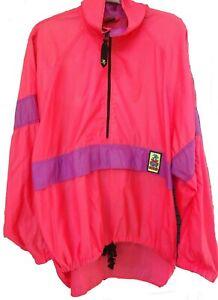 Vintage Ocean Pacific 80's OP Windbreaker Jacket size L -XL XTreme Air Surf Neon
