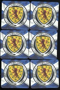 SCOTLAND Football Crest Flag Official Crested Beer Mats / Coasters FREE POST UK