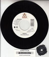 "MADONNA  Erotica 7"" 45 rpm vinyl record NEW + juke box title strip"