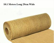 Hessian Table Runners Vintage Wedding Roll Shabby Chic 10mtr 29cm Cut Edge