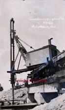 Photo Negative 1922 Railroad Steam Shovel Pile Driver Bridge Construction LOT