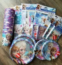 Disney FROZEN Girls Birthday Party Supplies 16 Party Guests Decoration Elsa Anna