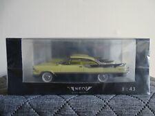 1:43 Neo #440905 Dodge Custom Royal Lancer 2-door Hardtop gelb Neu/OVP