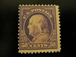 Scott #421 1912 to 1914 .50 cent Franklin Mint Hinged