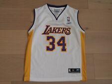 LOS ANGELES LAKERS #34 O'NEAL NBA REEBOK WHITE BASKETBALL JERSEY BOYS M(10-12)