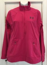 New Under Armour Women's Semi-Fitted Hot Pink Pullover Jacket SM MSRP: $69.99